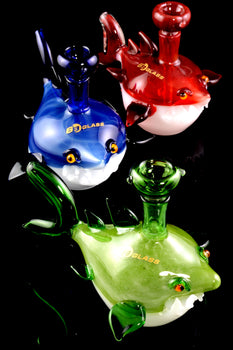 Glass Shark Bubbler - B1052