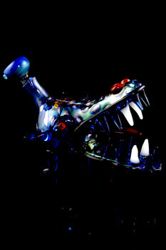 Color Changing Glass Dragon Bubbler - B1053