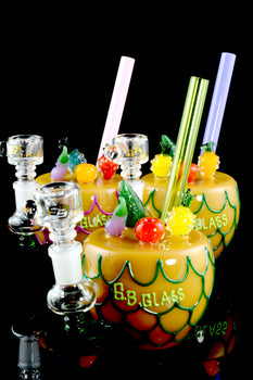 Pineapple Cocktail Glass Bubbler - B1075