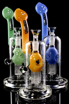 Large Stemless GoG Sherlock Bubbler with Tree Perc - B1169