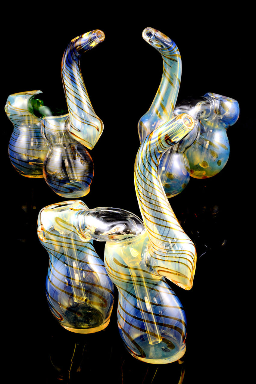 Large Color Changing Sherlock Double Chamber Bubbler - B827