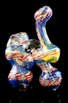 Medium Triple Chamber Color Changing Sherlock Bubbler - B873
