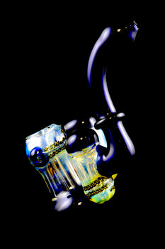 Large Color Changing Triple Chamber Sherlock Bubbler - B959