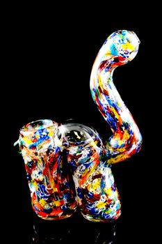Double Chamber Confetti Sherlock Glass Bubbler - B964