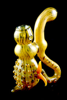 Large Spiky Sherlock Glass Bubbler - B972