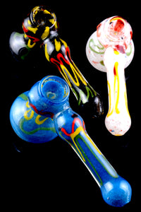 Medium Hammer Frit Glass Bubbler - B0979