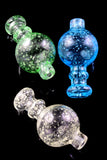 Glass Glow in the Dark Frit Carb Cap - BS634