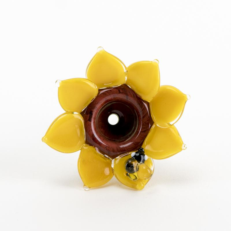 (US Made) 14.5mm Male Sunflower Bowl - BS652