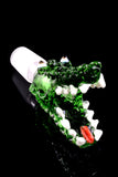 18.8mm Male Glass on Glass Alligator Bowl - BS658