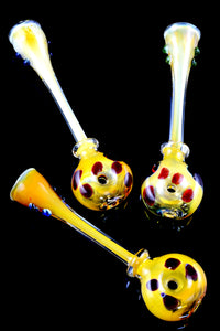 Gold Fumed Glass Donut Chillum - C0245