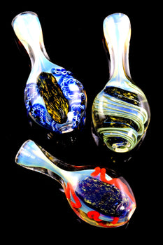 Color Changing Dichro Stripe Glass Chillum - C0248