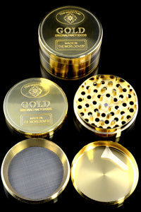 63mm 4 Part Gold Zinc Alloy Grinder - G0241