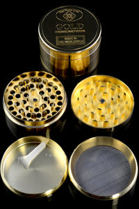 56mm 4 Part Gold Zinc Alloy Grinder - G0248