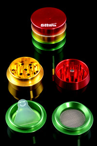 Tiered Sharper Rasta 4 Pc Grinder - G0249