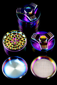 63mm 4 Part Rainbow Zinc Alloy Spinner Grinder - G0251