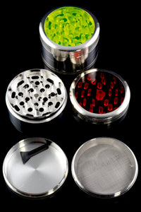 63mm 4 Part Colored View Top Zinc Alloy Grinder - G0252
