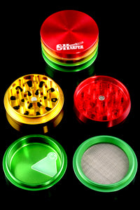 63mm Tiered Sharper Rasta 4 Pc Grinder - G0253