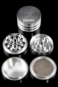63mm Tiered Sharper Silver 4 Pc Grinder - G0254