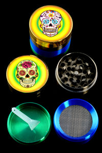 40mm Zinc Alloy 4 Pc Sugar Skull Grinder - G0266