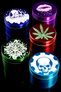 (Mix) 42mm 4 Pc Colored Aluminum Grinder - G0314