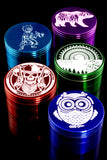 (Mix) 63mm 4 Pc Colored Aluminum Grinder - G0316
