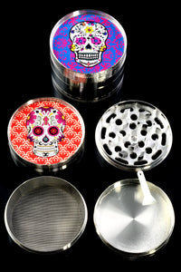 60mm 4 Part Aluminum Sugar Skull Grinder - G0360