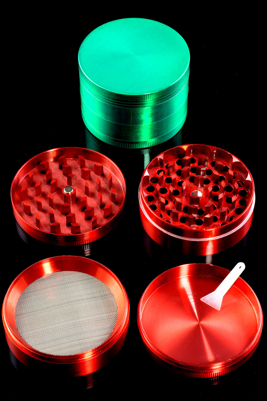 63mm 4 Part Colored Zinc Alloy Grinder - G0366