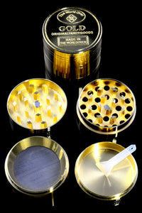 40mm 4 Part Gold Zinc Alloy Grinder - G0370