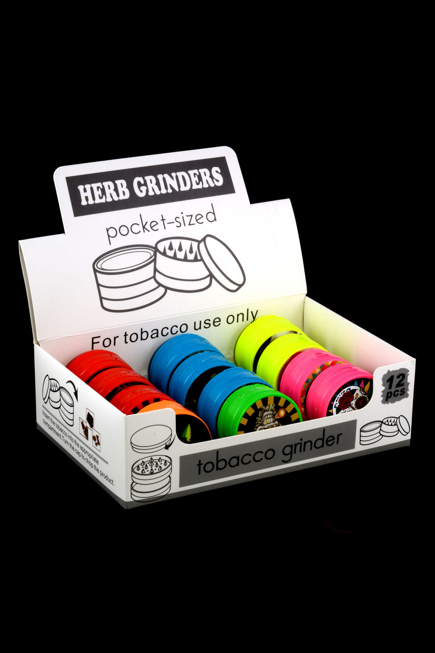 50mm 3 Part Colorful Plastic Sticker Decal Grinder - G0399