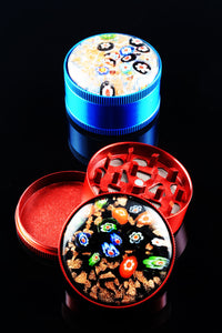 52mm 3 Part Glitter Top Grinder - G195