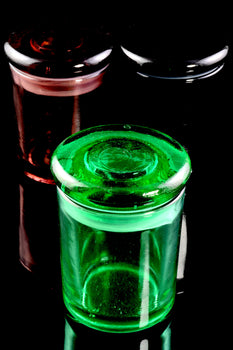 Small Colored Glass Jar - J0196
