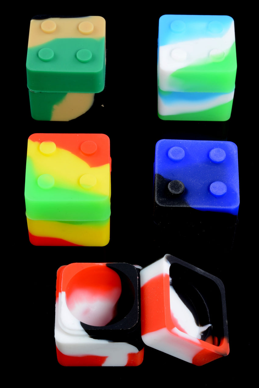 Small Colorful Silicone Cube Jar - J0213