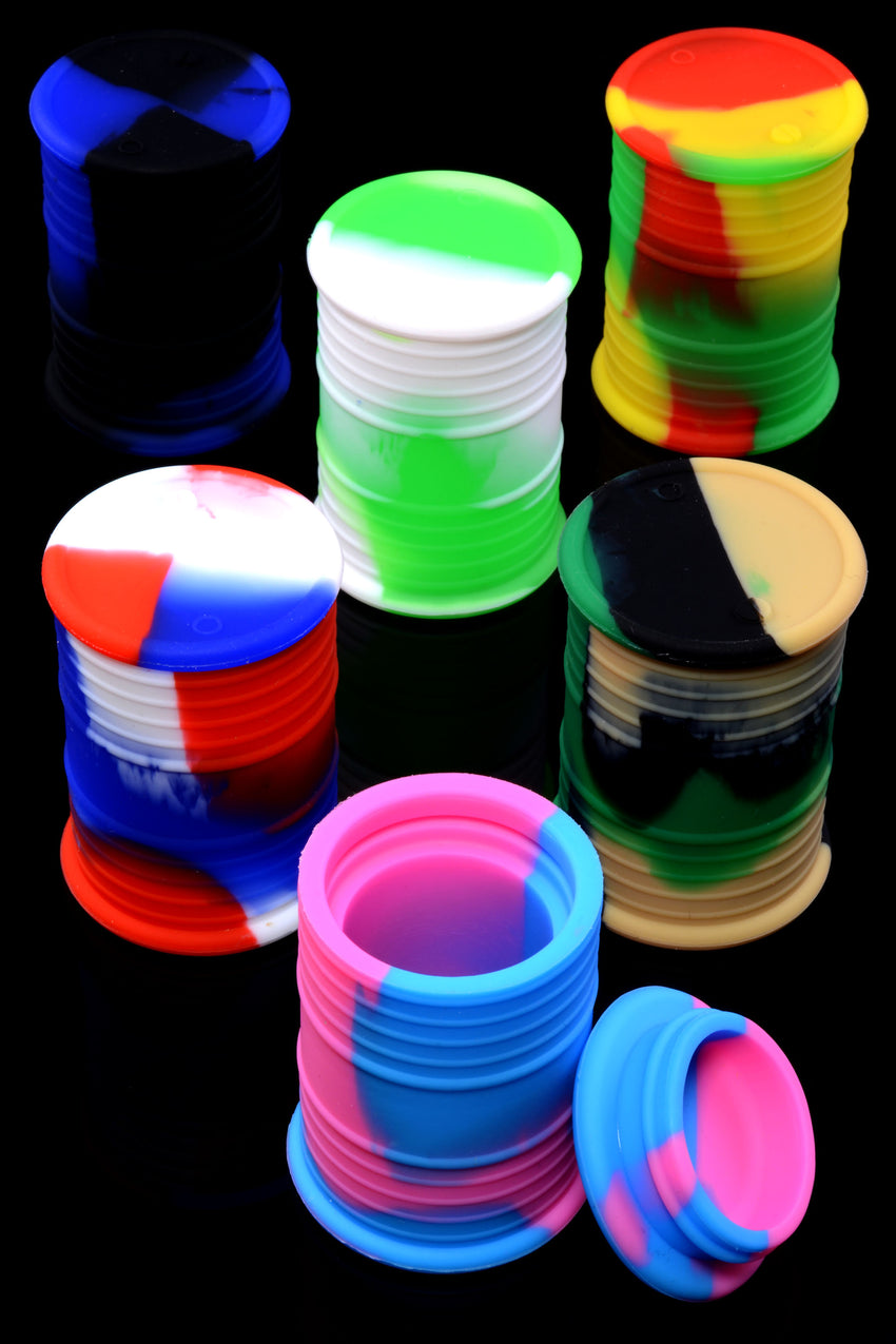 Colorful Silicone Barrel Jar - J0218