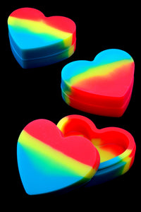 Colorful Silicone Heart Jar - J0223