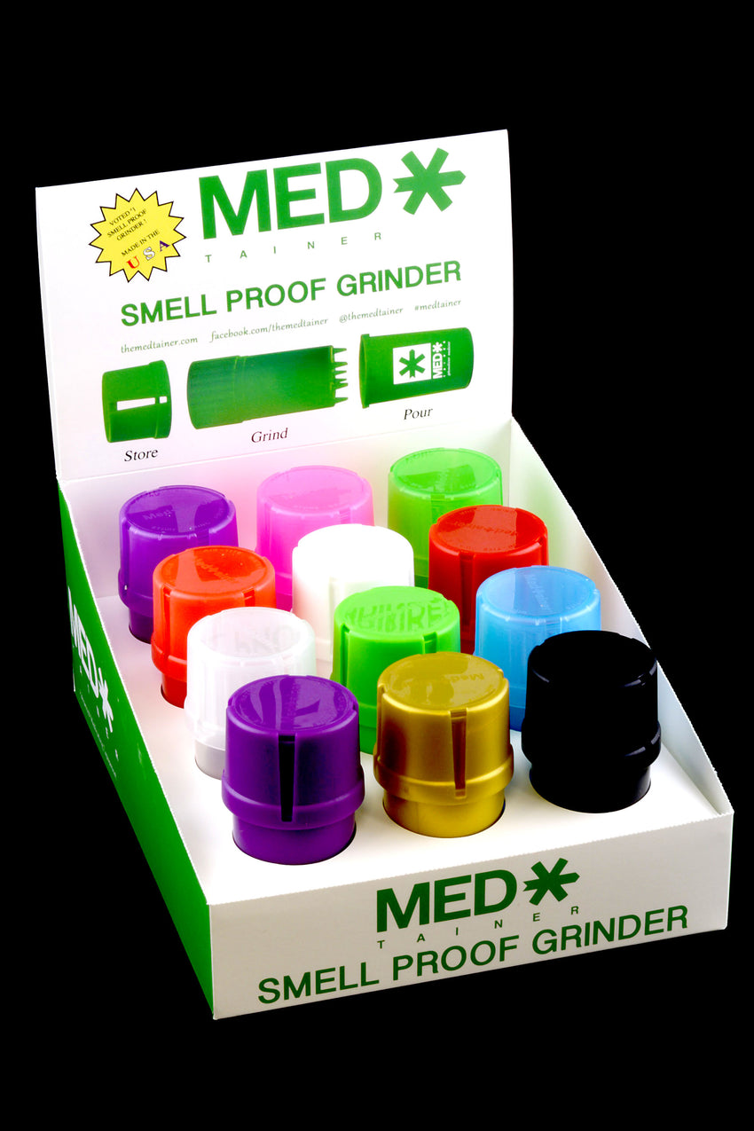 (US Made) MedTainer Smell Proof Grinder Jar - J0131
