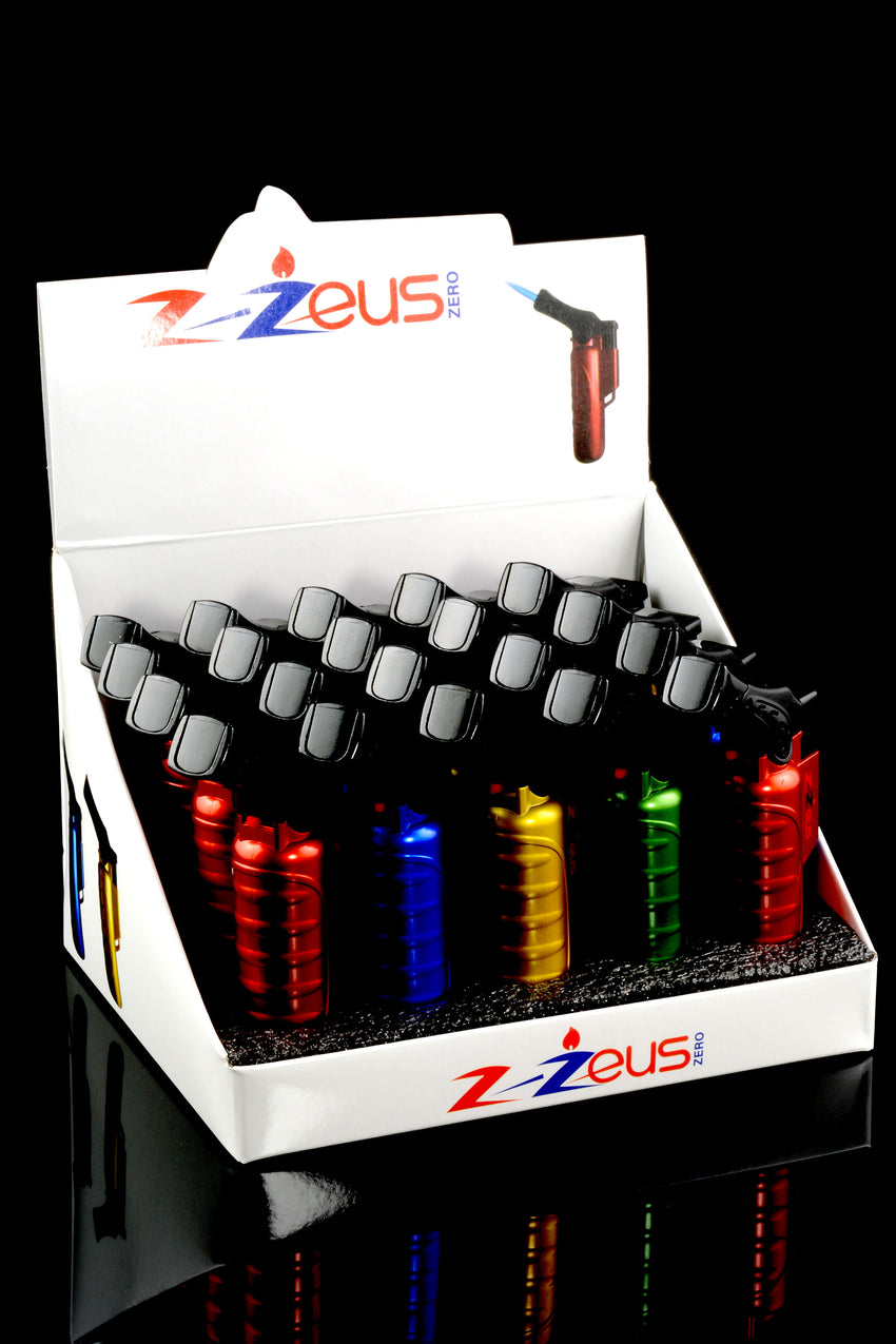 20 Pc Z-Zeus Torch Gun Lighter Display - L0177