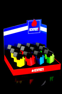 12 Pc Neon Newport Torch Gun Lighter Display - L0179