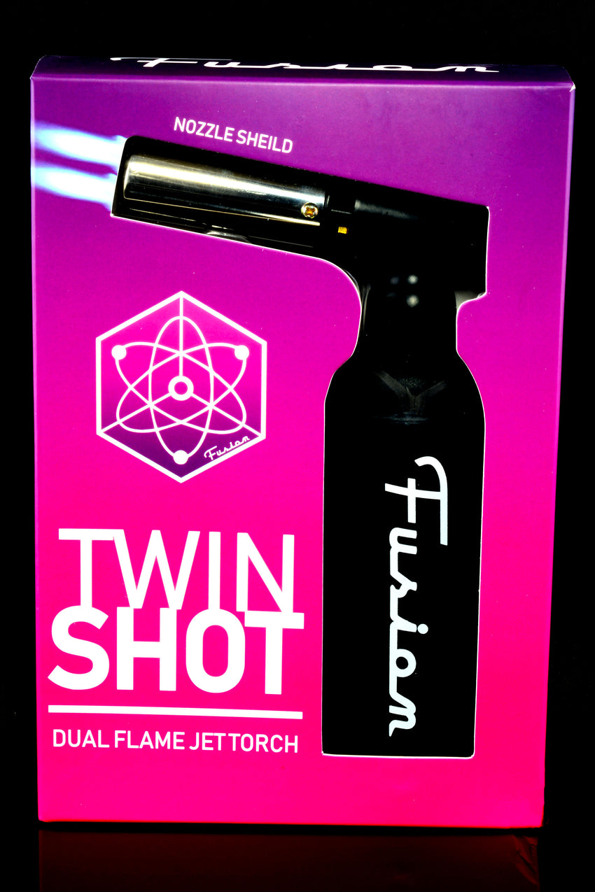 Fusion Twin Shot Dual Flame Jet Torch Lighter - L0235