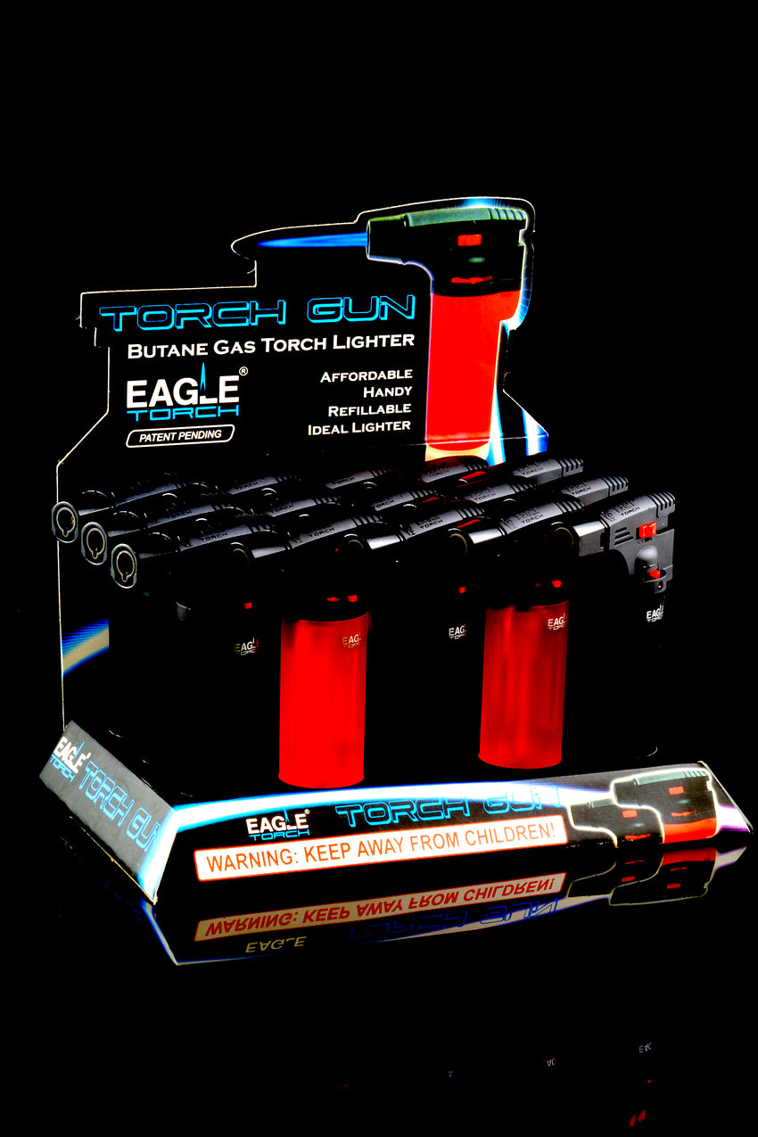 15 Pc Eagle Torch Gun Lighter Display - L0133