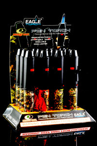 12 Pc Camo Eagle Pen Torch Lighter Display - L150