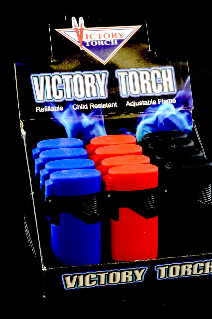 12 Pc Victory Torch Lighter Display - L154