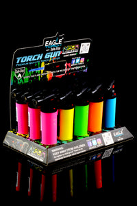 15 Pc Neon Eagle Torch Gun Lighter Display - L0158