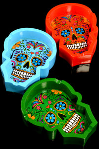 Sugar Skull Resin Ashtray - M0320