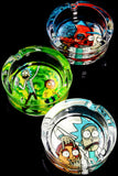 Glow in the Dark R&M Glass Ashtray - M0335