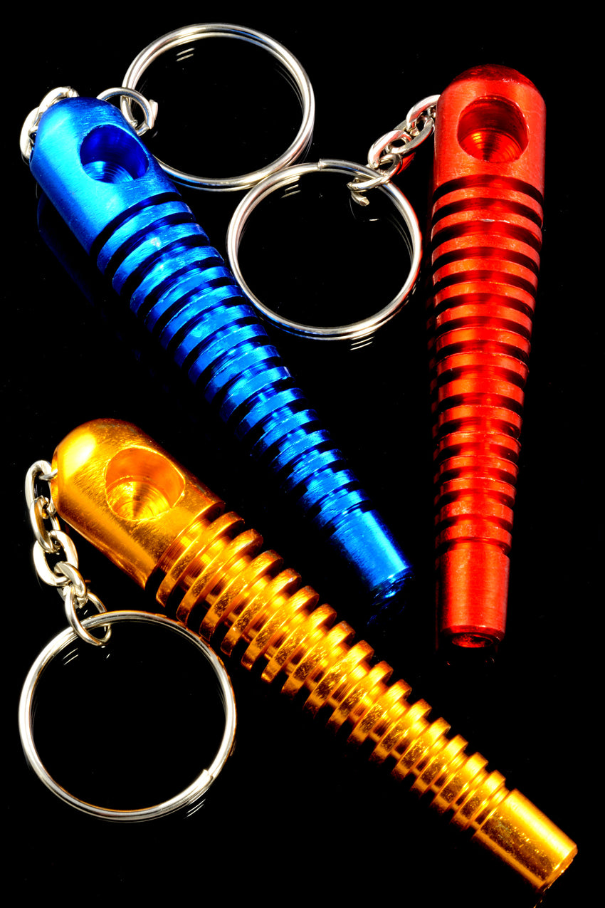 Colored Metal Skeleton Keychain Pipe - MP183