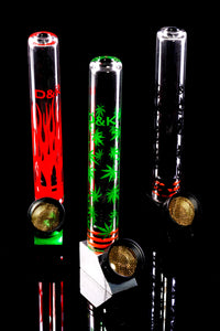 Stand Up Glass Pipe with Metal Bowl Gift Set - MP218