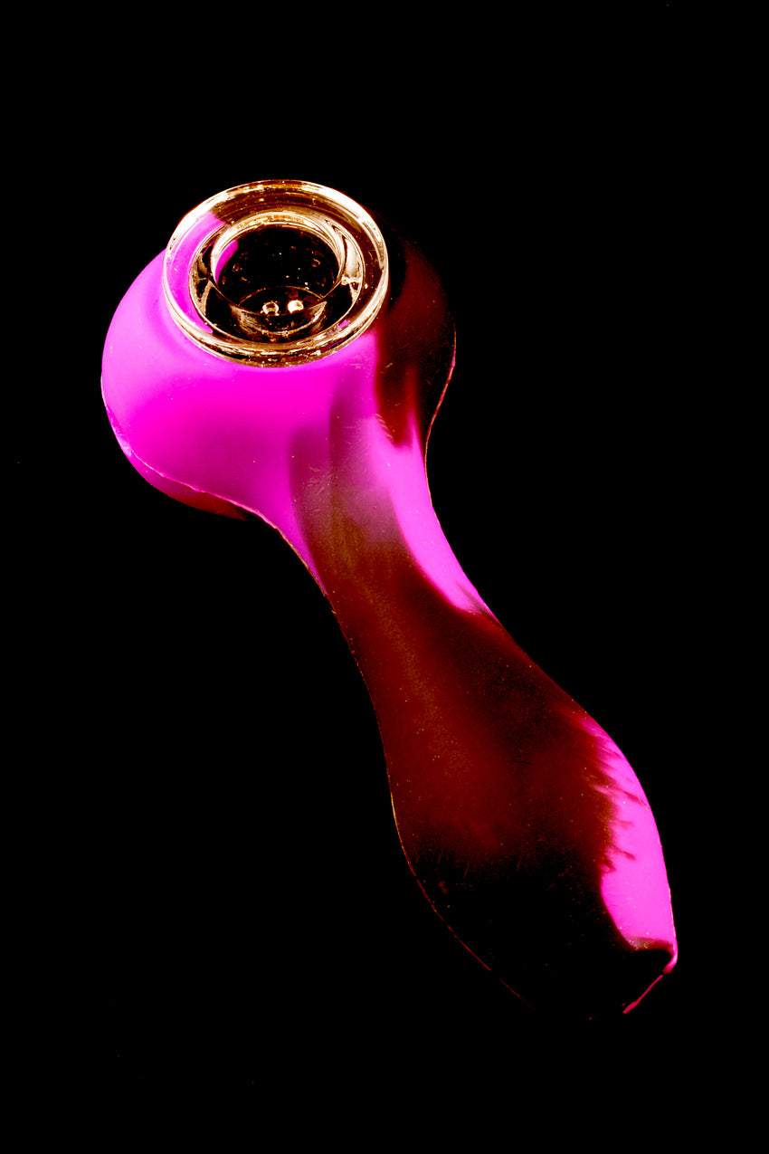 Silicone Hand Pipe with Glass Bowl - P1360