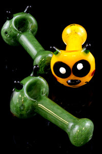 Frit Critter Face Glass Pipe - P1362
