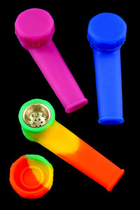 Small Silicone Pipe with Cap - P1404