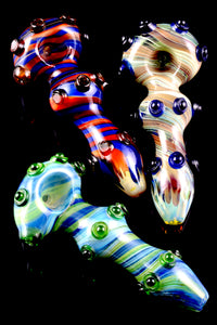 Thick Colorful Reverse Glass Pipe - P1593